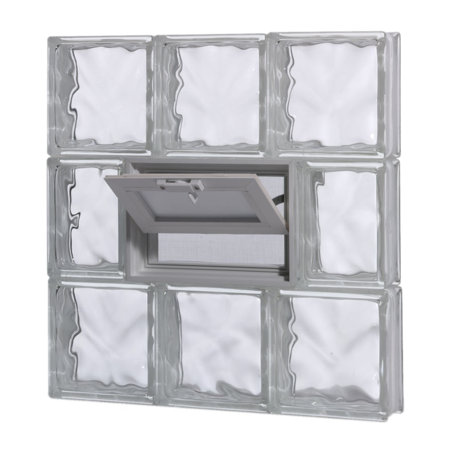 Shop pittsburgh corning guardwise decora vented frameless for Glass block windows prices