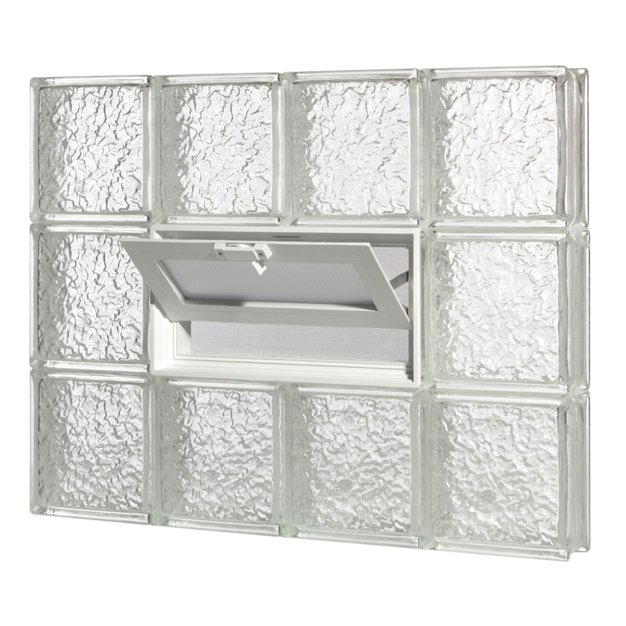 Shop pittsburgh corning guardwise icescapes vented for Where to buy glass block windows
