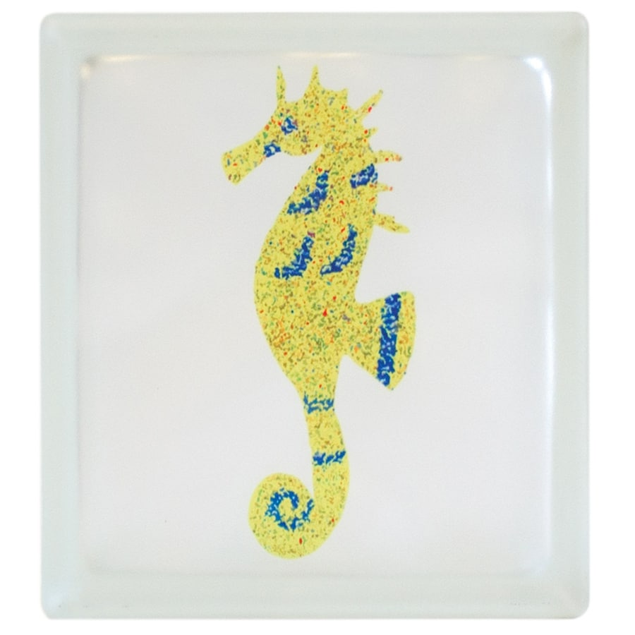 Pittsburgh Corning Expressions Seahorse Glass Block (Common: 8-in H x 8-in W x 4-in D; Actual: 7.75-in H x 7.75-in W x 3.87-in D)