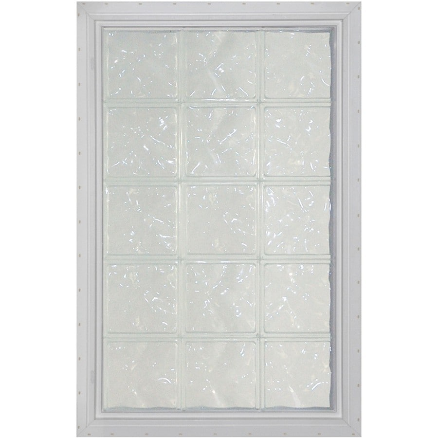 Pittsburgh Corning LightWise Decora White Vinyl New Construction Glass Block Window (Rough Opening: 17.625-in x 48.75-in; Actual: 16.375-in x 47.75-in)