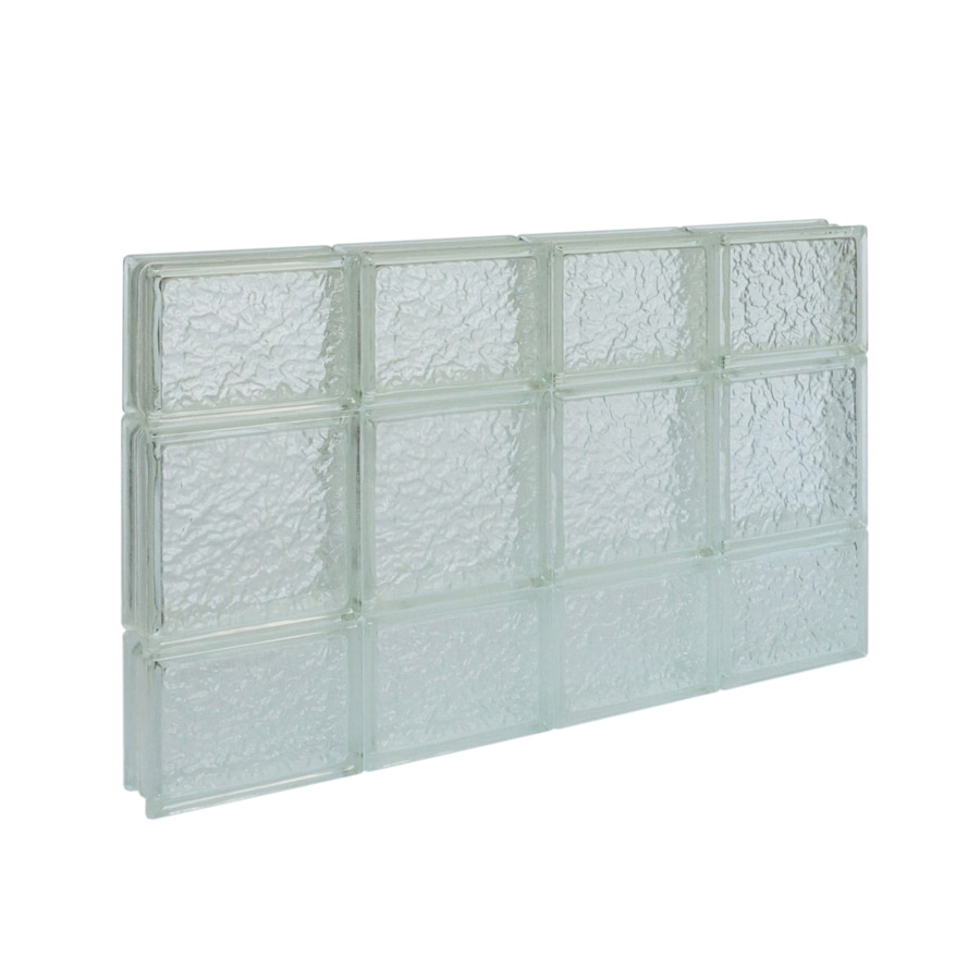 Shop pittsburgh corning guardwise icescapes solid for Glass block windows prices