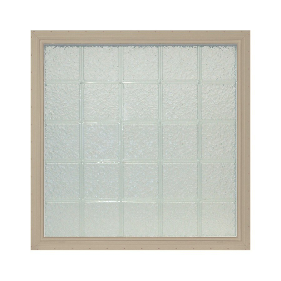 Shop pittsburgh corning lightwise icescapes sand vinyl new for Plastic glass block windows