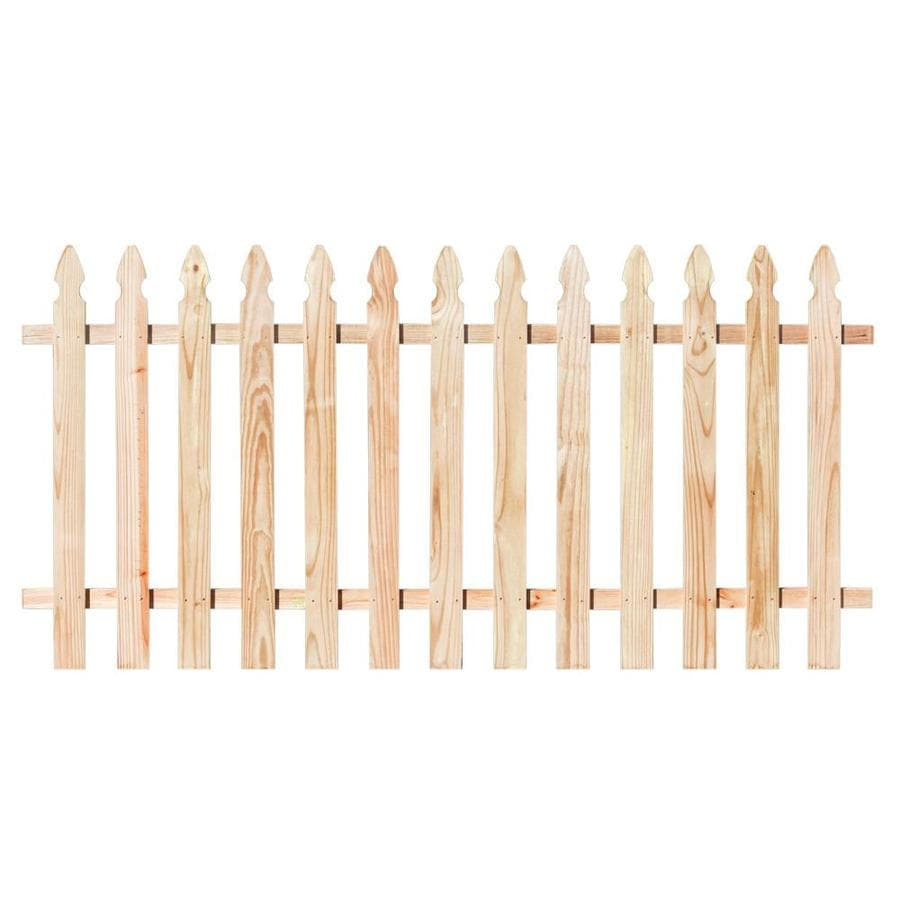 Natural White Cedar Semi-Privacy Fence Panel (Common: 8-ft x 3.5-ft; Actual: 8-ft x 3.5-ft)