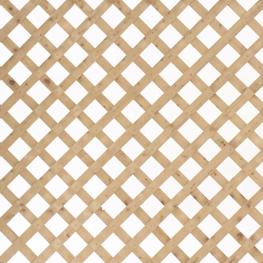 Severe Weather Pressure Treated Spruce Privacy Lattice (Actual: 0.4375-in)
