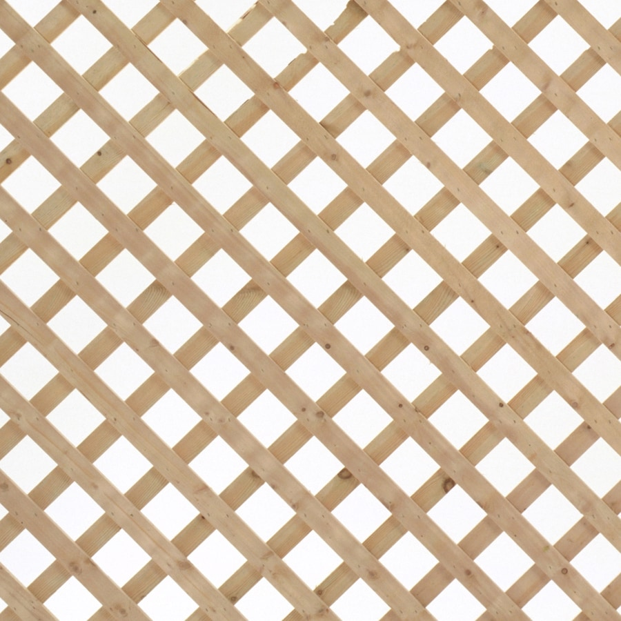 4 x 8 Spruce Traditional Wood Lattice