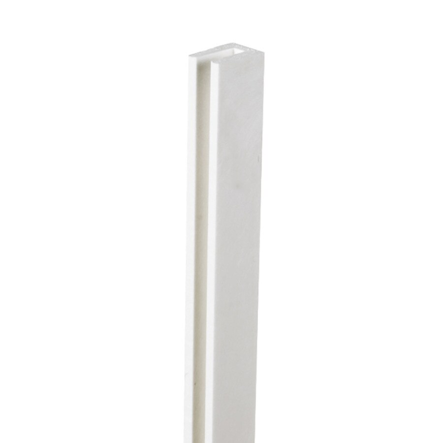 White Vinyl Lattice Cap (Common: 1-in x 8-ft; Actual: 1-in x 0.625-in x 8.03-ft)