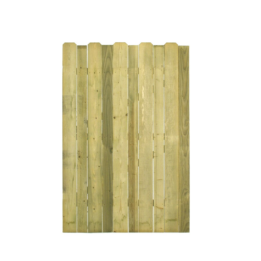 Natural Pressure Treated Spruce Pine Fir Privacy Fence Gate (Common: 4-ft x 6-ft; Actual: 4-ft x 6-ft)