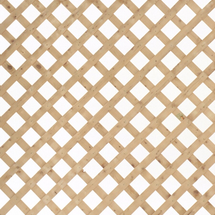 Severe Weather Natural Pressure Treated Spruce Traditional Lattice (Common: 1/2-in x 96-in x 4-ft; Actual: 0.5-in x 96-in x 4-ft)