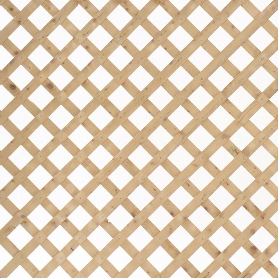 Severe Weather Natural Pressure Treated Spruce Traditional Lattice (Common: 1/2-in x 96-in x 2-ft; Actual: 0.5-in x 96-in x 2-ft)