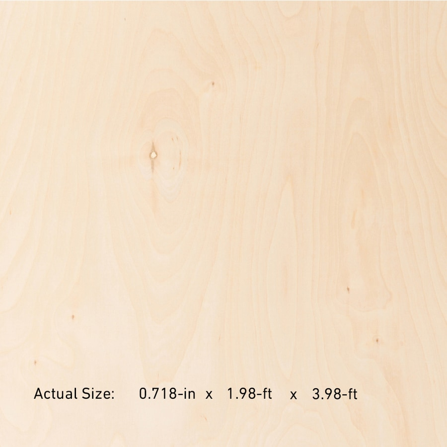 3/4-in Common Birch Plywood, Application as  2 x 4