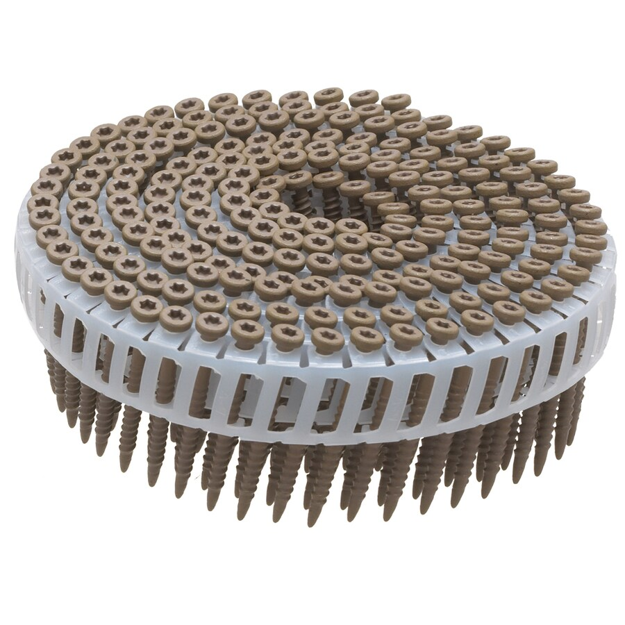 PneuScrew 1,600-Count #8 x 1.5-in Flat-Head Ceramic Star-Drive Deck Screws