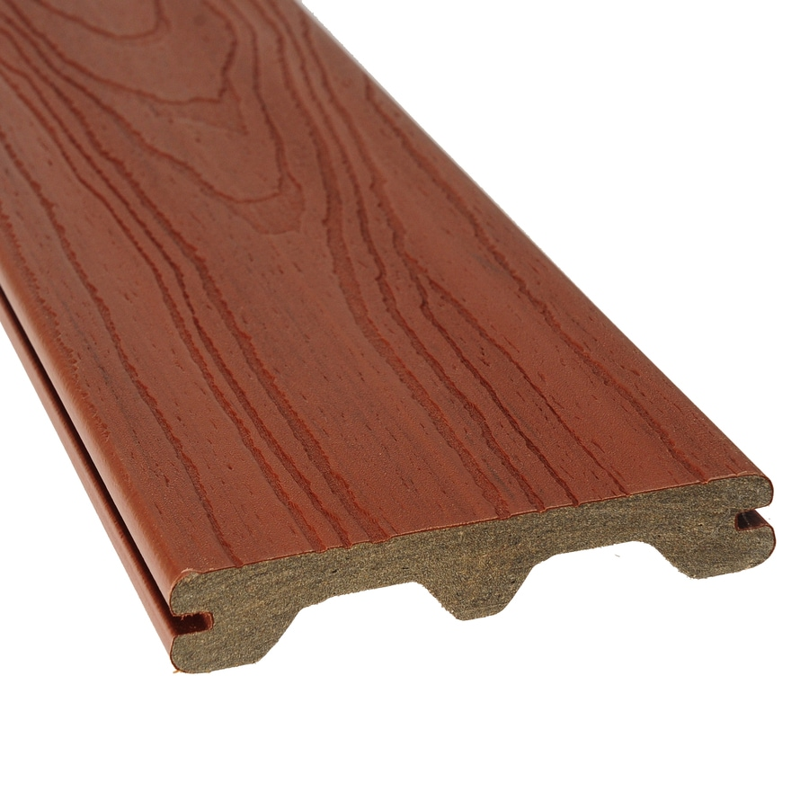 Style Selections Sienna Red Groove Composite Deck Board (Actual: 1-in x 5.5-in x 16-ft)