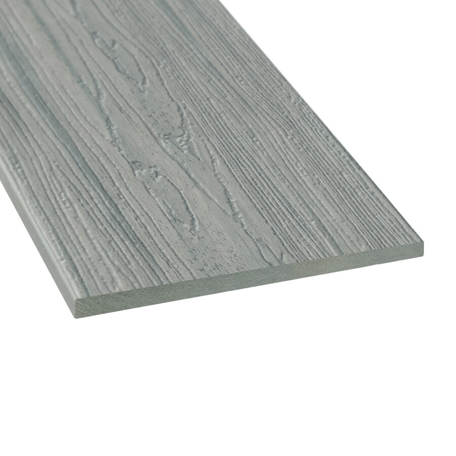 Style Selections Fieldstone Gray Radius Edge Composite Deck Board (Actual: 0.5-in x 11.25-in x 12-ft)