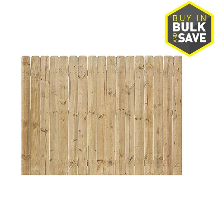 Severe Weather Natural Pressure Treated Pine Privacy Fence Panel (Common: 8-ft x 6-ft; Actual: 8-ft x 6-ft)