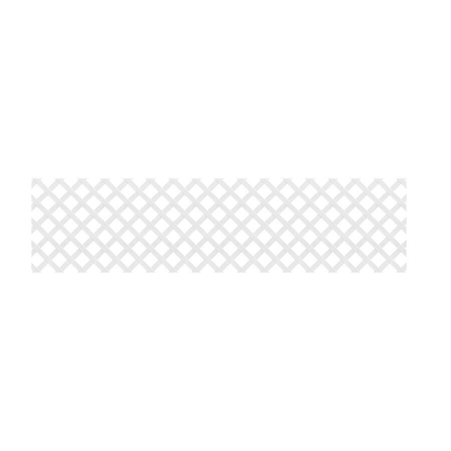 White Vinyl Traditional Lattice (Common: 24-in x 8-ft; Actual: 0.125-in x 23.5-in x 7.91-ft)