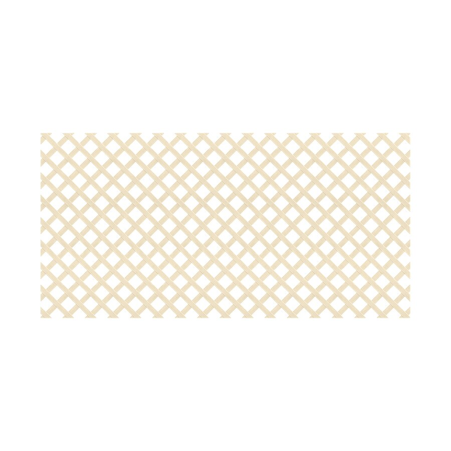 Almond Vinyl Traditional Lattice (Common: 48-in x 8-ft; Actual: 0.125-in x 47.5-in x 7.91-ft)