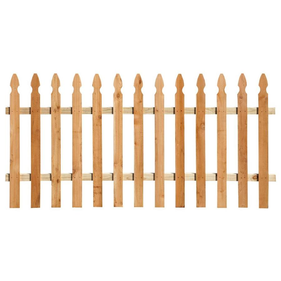 Severe Weather Natural Western Red Cedar Privacy Fence Panel (Common: 8-ft x 3.5-ft; Actual: 8-ft x 3.5-ft)
