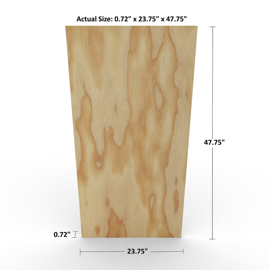 3/4-in Common Fir Sanded Plywood, Application as 2 x 4