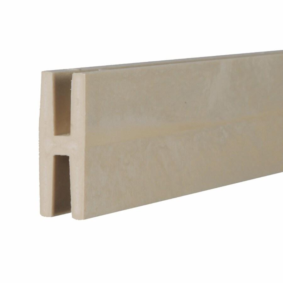 Clay Vinyl Lattice Divider (Common: 1-in x 8-ft; Actual: 1.98-in x 0.625-in x 8.03-ft)