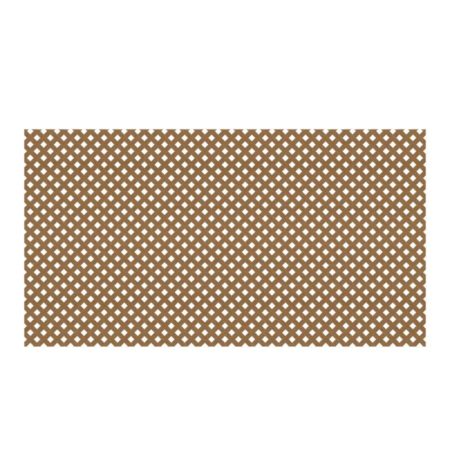 Cedar/Redwood Vinyl Privacy Lattice (Common: 48-in x 8-ft; Actual: 0.125-in x 47.5-in x 7.87-ft)