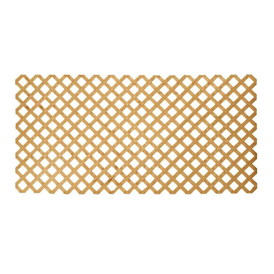 Severe Weather Color Treated Stain Pressure Treated Southern Yellow Pine Traditional Lattice (Common: 3/4-in x 96-in x 4-ft; Actual: 0.75-in x 96-in x 4-ft)