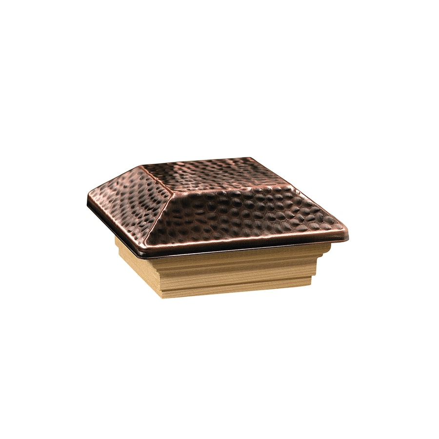 Deckorators Copper Metal Pine Deck Post Cap (Fits Common Post Measurement: 4-in x 4-in; Actual: 5.5-in x 5.5-in x 2.63-in)