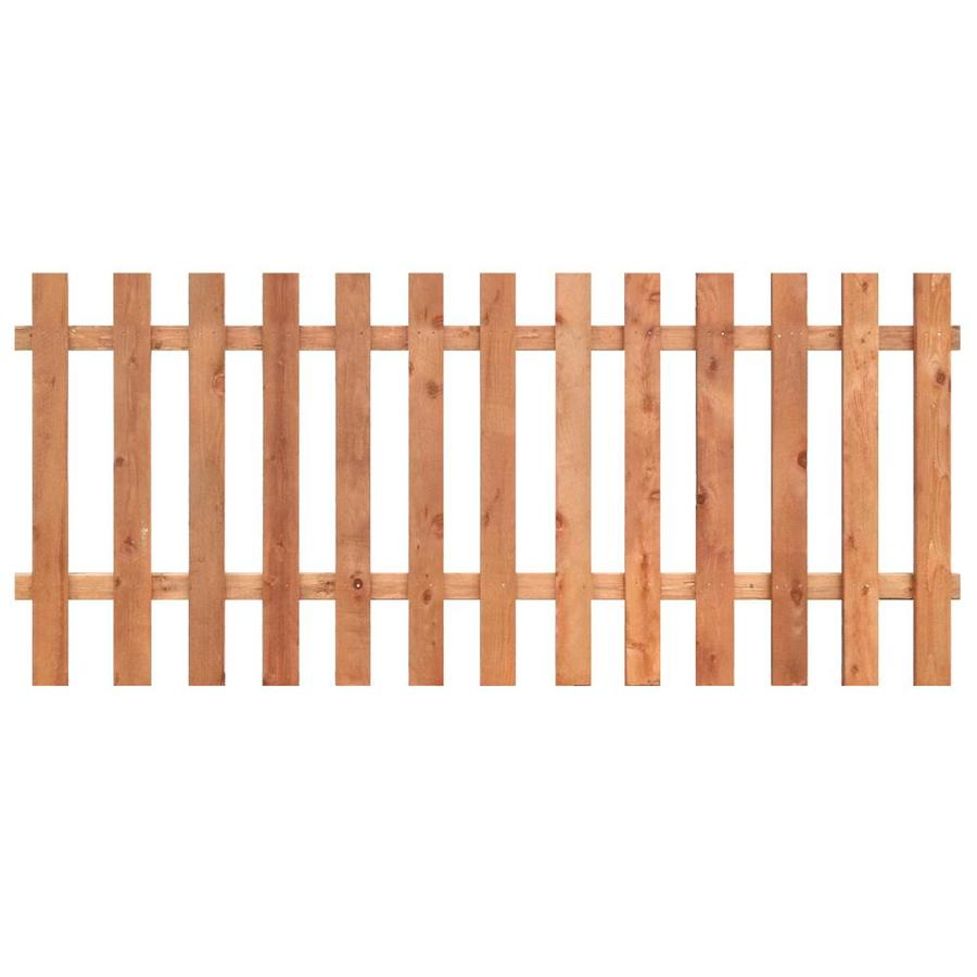 Natural Western Red Cedar Semi-Privacy Fence Panel (Common: 8-ft x 3.5-ft; Actual: 8-ft x 3.5-ft)