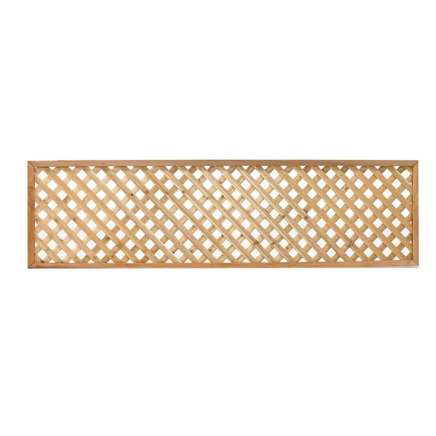 Severe Weather Western Red Cedar Privacy Lattice (Common: 7/16-in x 96-in x 2-ft; Actual: 0.4375-in x 96-in x 2-ft)