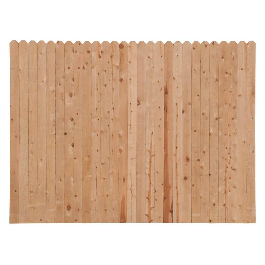 Severe Weather Natural Pine Privacy Fence Panel (Common: 8-ft x 6-ft; Actual: 8-ft x 6-ft)