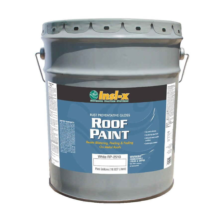 Insl-x 5-Gallon Exterior Gloss White Oil-Base Paint and Primer in One