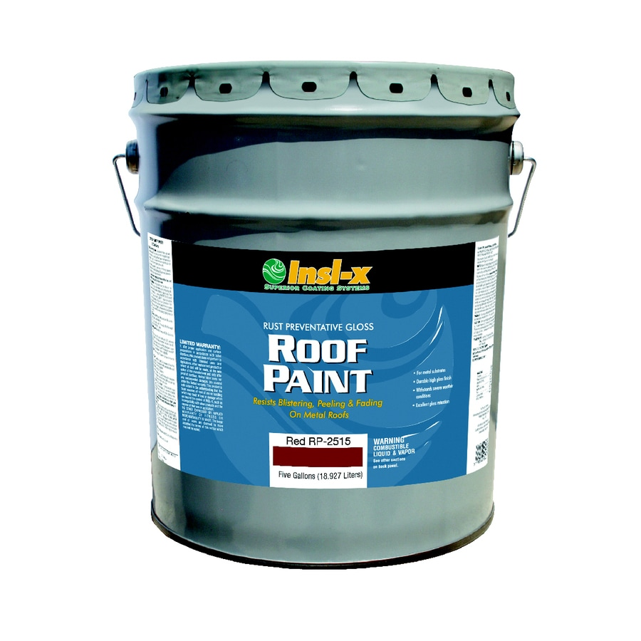 Shop Insl X 5 Gallon Exterior Gloss Red Oil Base Paint And Primer In One At