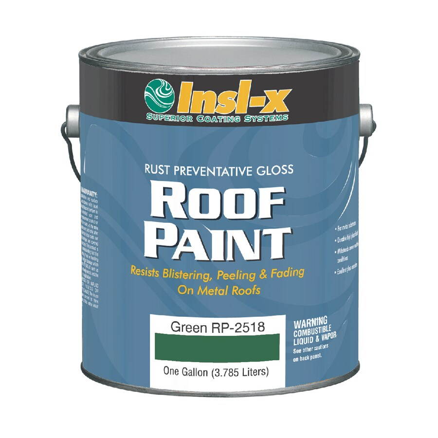 Shop Insl X 1 Gallon Exterior Gloss Green Oil Base Paint And Primer In One At