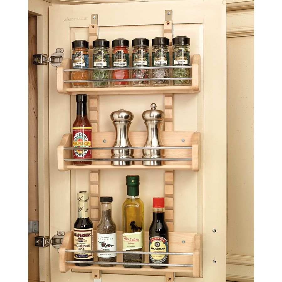 Shop rev a shelf wood in cabinet spice rack at for Off the shelf cabinets