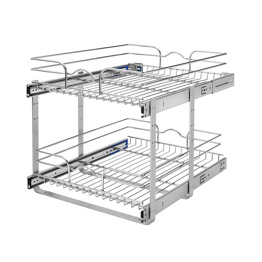 Rev A Shelf 19 In H X 14 75 In W X 22 In D Base Cabinet: Shop Rev-A-Shelf 17.75-in W X 19-in H Metal 2-Tier Pull