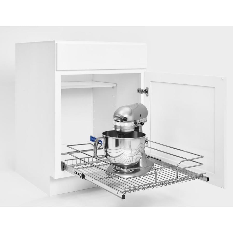 Rev-A-Shelf 20.5-in W x 19-in H Metal 1-Tier Pull Out Cabinet Basket