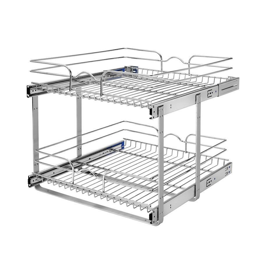 Rev-A-Shelf 20.75-in W x 19-in H Metal 2-Tier Pull Out Cabinet Basket
