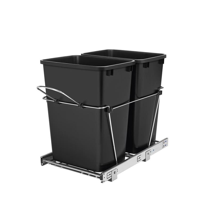 Shop Rev A Shelf 35 Quart Plastic Pull Out Trash Can At