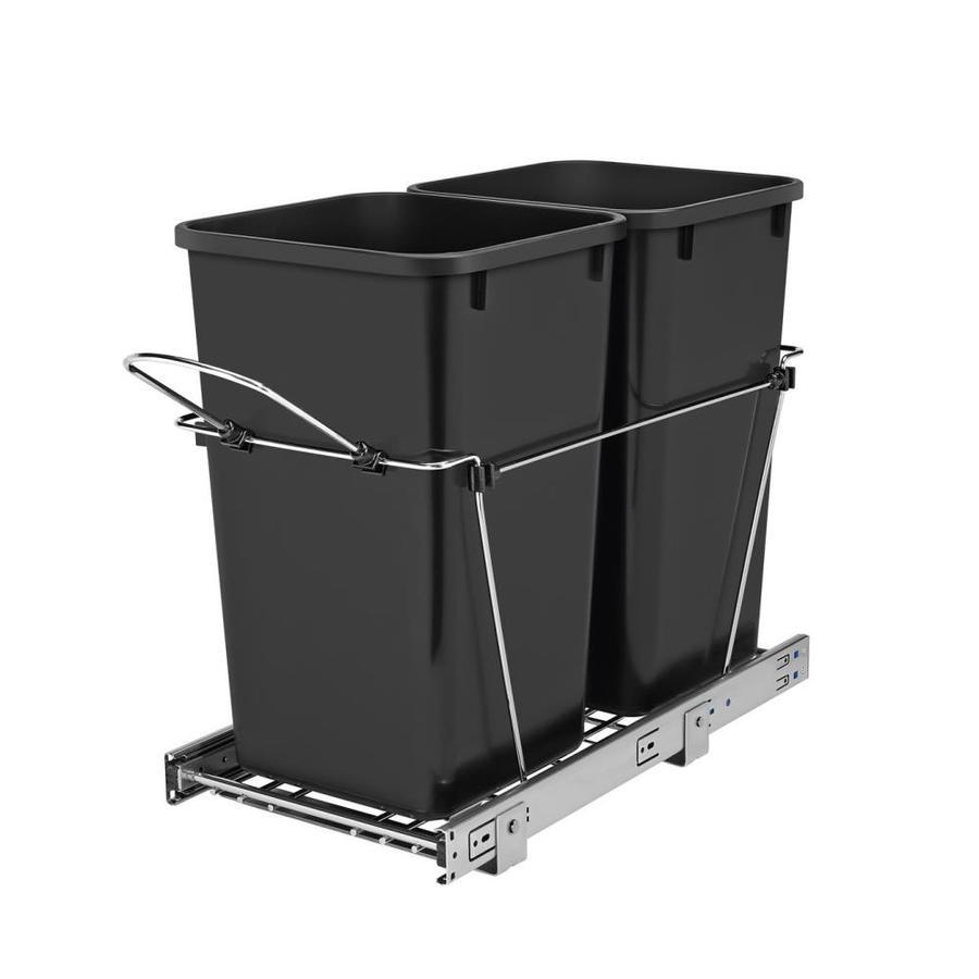 Rev-A-Shelf 27-Quart Plastic Pull Out Trash Can