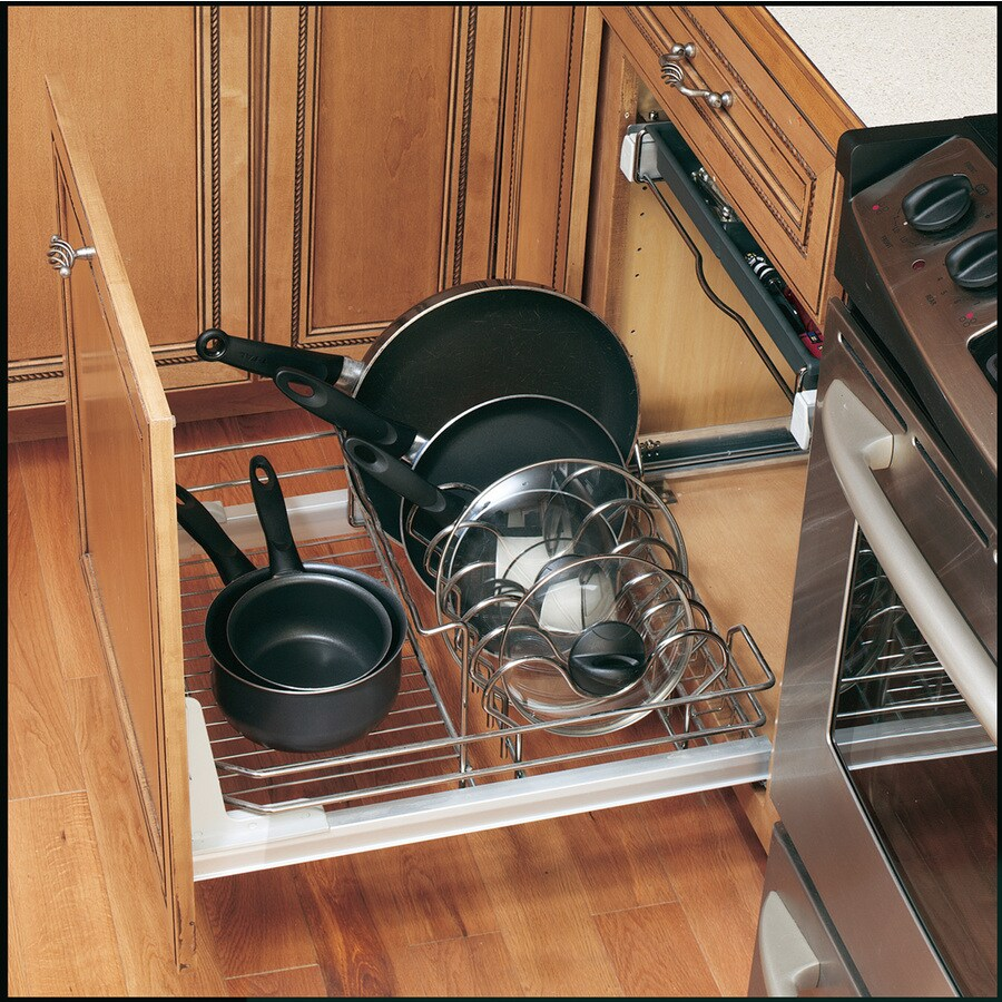 Rev-A-Shelf 32.13-in W x 22-in D x 9.5-in H 1-Tier Metal Pull Out Cabinet Basket