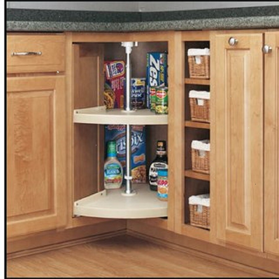 15 Kitchen Pantry Ideas With Form And Function: Shop Rev-A-Shelf 2-Tier Plastic Pie-Cut Cabinet Lazy Susan