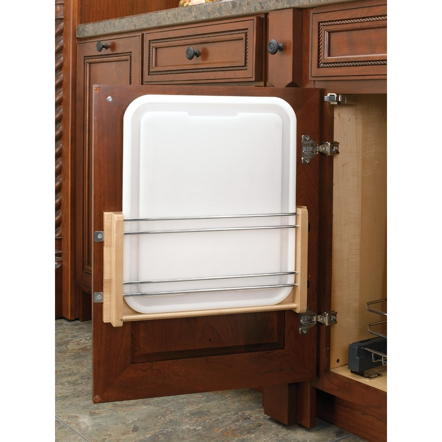 Rev-A-Shelf 15.75-in W x 16.25-in H Wood 1-Tier Cabinet Door Cutting Board