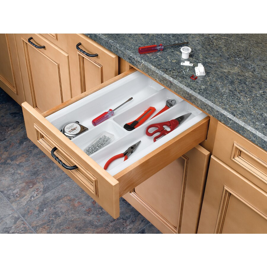 Rev-A-Shelf 21.25-in x 14.25-in Plastic Multi-Use Insert Drawer Organizer