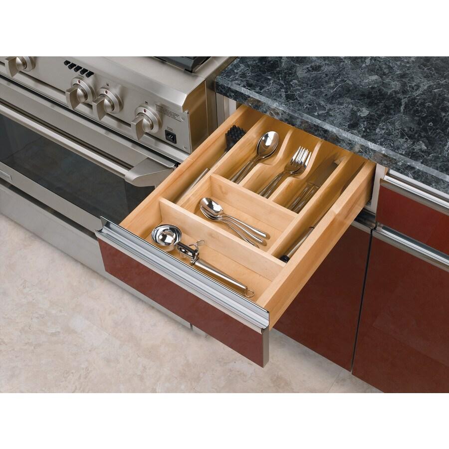 Shop Rev A Shelf 22 In X 14 62 In Wood Cutlery Insert