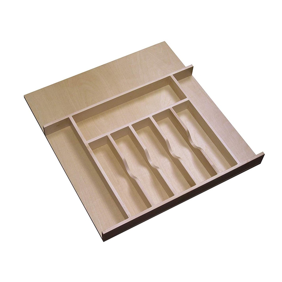 Rev-A-Shelf 22-in x 20.62-in Wood Cutlery Insert Drawer Organizer