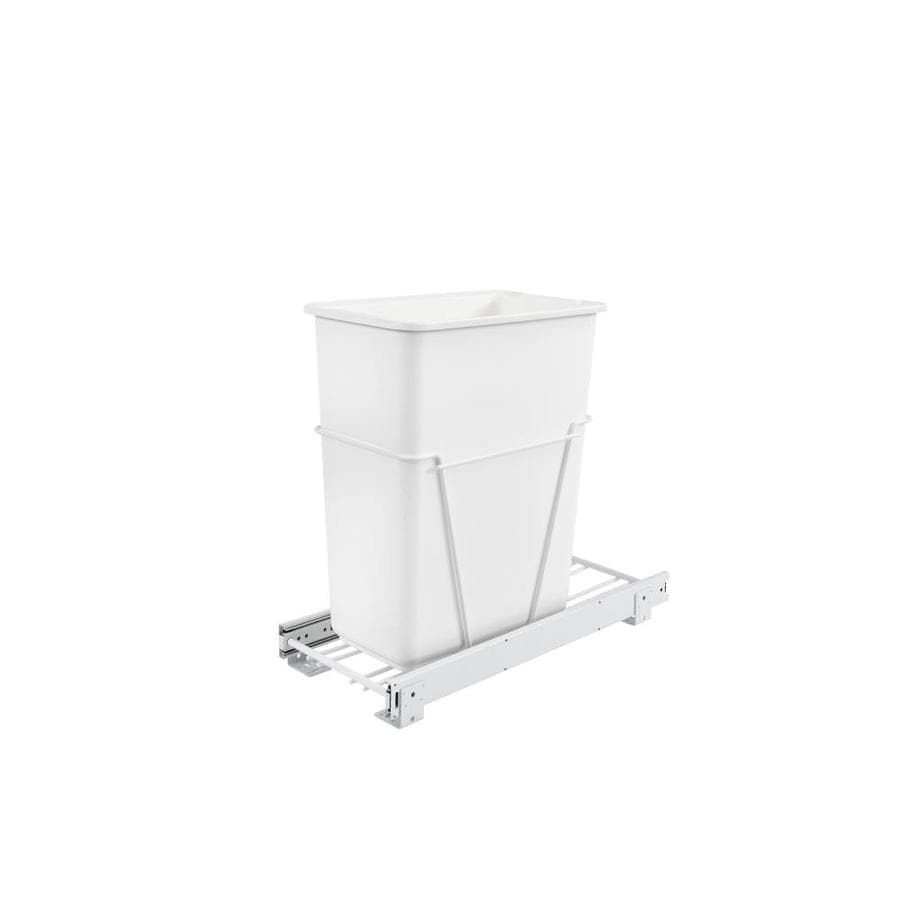 Shop Rev A Shelf 30 Quart Plastic Pull Out Trash Can At