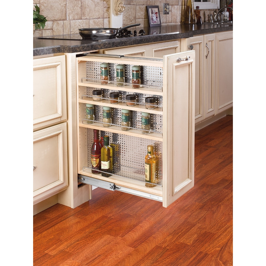 Shelves For Kitchen Cabinets: Shop Rev-A-Shelf 9-in W X 23-in D X 30-in H 4-Tier Wood