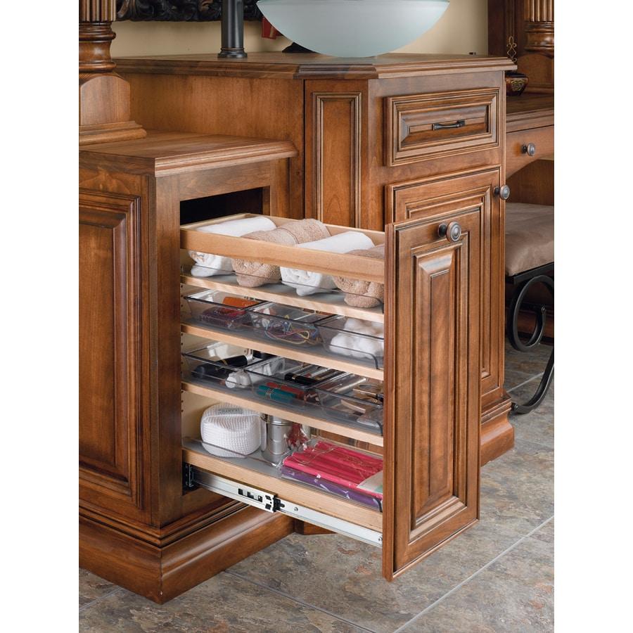 Rev-A-Shelf 8-in W x 25.5-in H Wood 1-Tier Cabinet Shelf