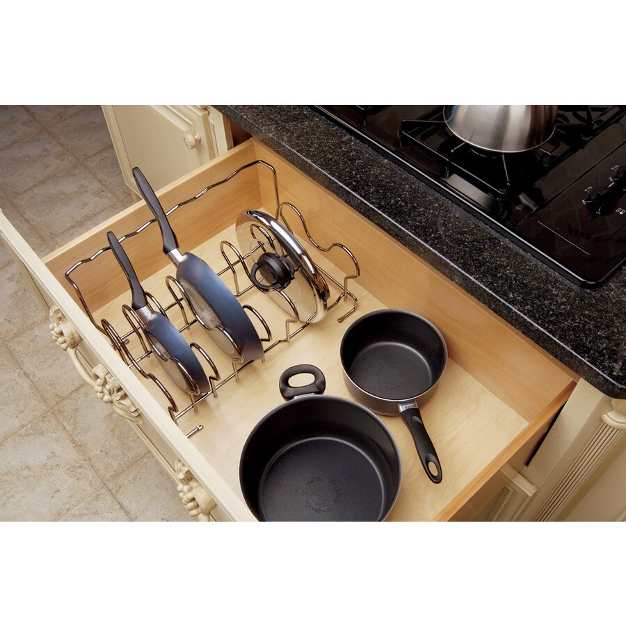 Rev-A-Shelf 17.5-in W x 12-in D x 8.75-in H 1-Tier Metal Pull Out Cabinet Basket