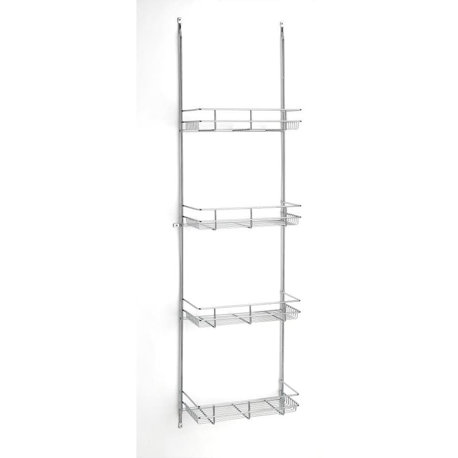 Rev-A-Shelf 12.25-in W x 46.75-in H Metal 4-Tier Cabinet Door Linen Rack