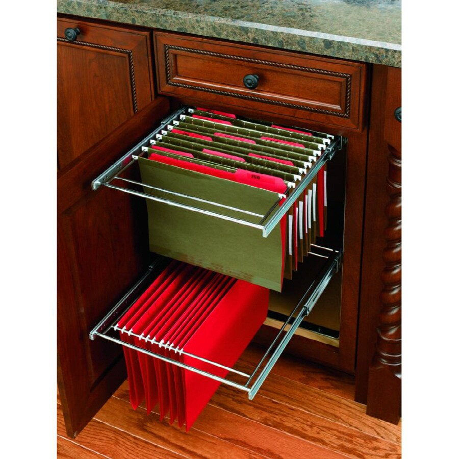 Rev-A-Shelf 14.75-in W x 24-in D x 22.63-in H 1-Tier Metal Pull Out Cabinet Basket